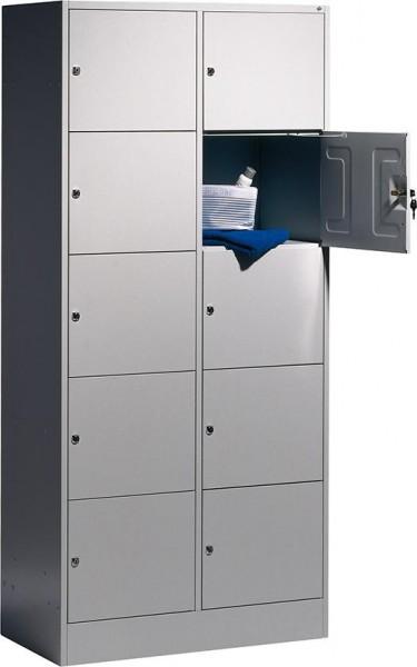 Fächerschrank, Breite 240-680 mm, lichtgrau/lichtblau