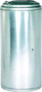 Abfallsammler 120l verzinkt mit Tür