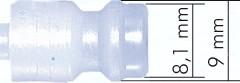 Kupplungsdosen NW 5 aus POM/PVDF, mit Gewindeanschluss