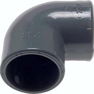 Klebemuffen-Winkel 90° PVC-U, PN 16