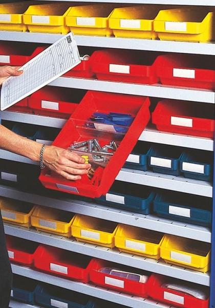 Auszugssperre für Kleinteilekästen aus Polypropylen , naturweiss
