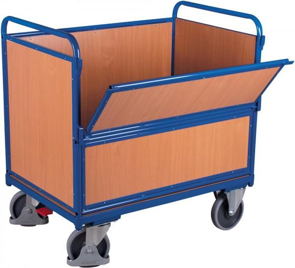 Holzkastenwagen mit Stahlrohr-Aufbau