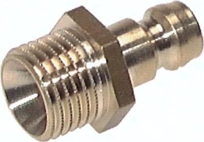 Kupplungsstecker 9 mm Zapfen, Außengewinde, PN 15