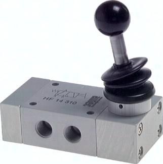 3/2 Wege-Handhebelventile mit Federrückstellung, Baureihe HF