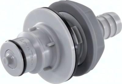 Kupplungsstecker mit Schlauchtülle und Schottgewinde Baureihe HF