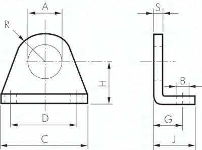 Fußbefestigungen, für Kleinzylinder ISO 6432