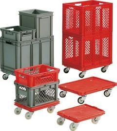 Deckel für Transportboxen, rot