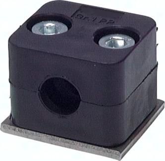 Edelstahl-Rohrschellen - leichte Baureihe, DIN 3015 T1