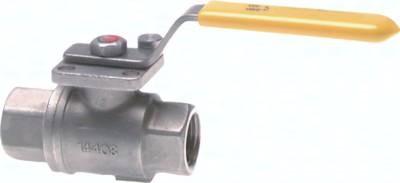 Edelstahl-Kugelhähne 2-teilig, für den Einsatz in Sauerstoffanlagen, PN 20