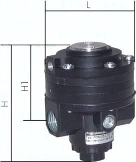Ferngesteuerte Präzisions-Feindruckregler (Volumenbooster), 6500 l/min