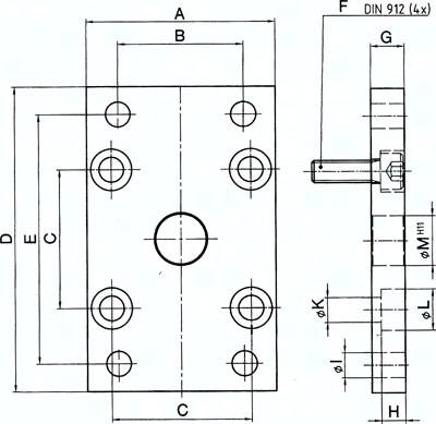 Flanschbefestigungen vorn oder hinten, für Kompaktzylinder