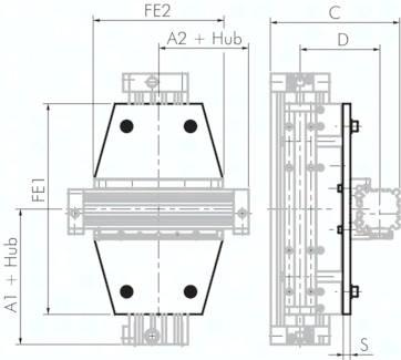 Kreuzträger für kolbenstangenlose Zylinder