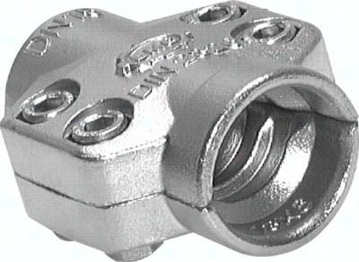 Klemmschalen 2-teilig für Dampfschläuche, Abmessungen nach EN 14423 (DIN 2826)