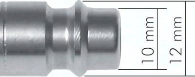 Kupplungsdosen NW 7,2 mit Überwurfmutter, Bolzenverriegelung