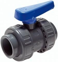 Kugelhähne mit Innengewinde PVC-U Wasserausführung (für Kunststoffgewinde), PN 16/10