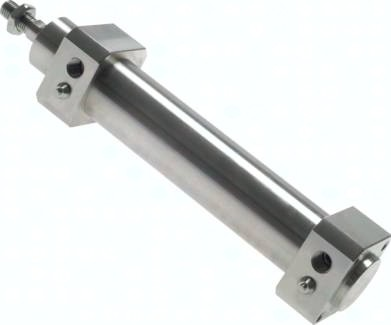 Edelstahlzylinder ISO 15552 mit Magnet und einstellbarer Endlagendämpfung