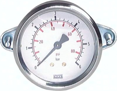 Einbaumanometer mit Dreikant-Frontring Ø 40, 50, 63, 100 mm, Klasse 2.5