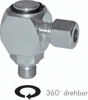 Gleitlager-Winkel-Dreh-Verschraubungen (metrisch)|