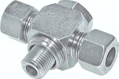 Drosselfreie T-Schwenkverschraubungen, Whitworth-Rohrgewinde (BSPP)