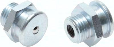 Gerade Flachschmiernippel, Kopfdurchmesser 22 mm, DIN 3404