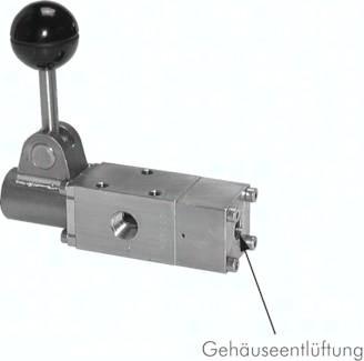 3/2- und 5/2-Wege-Handhebelventile aus Edelstahl