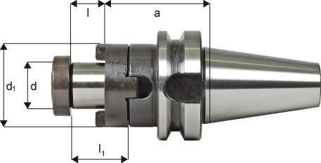 Kombi-Aufsteckfräsdorn DIN JISB 6339 (MAS-BT)
