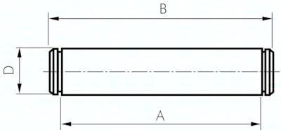 Bolzen zu Schwenkbefestigungen, für Zylinder ISO 15552
