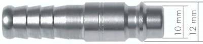 Kupplungsdosen NW 7,2 mit Schlauchtülle, Kugelverriegelung
