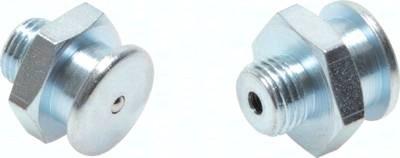 Gerade Flachschmiernippel, Kopfdurchmesser 16 mm, DIN 3404