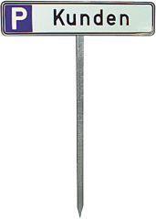 Einschlagpfosten für Parkplatzschild