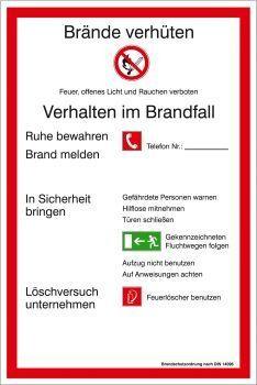 Brandschutzordnung BRD und Landkreis München, nicht langnachleuchtend