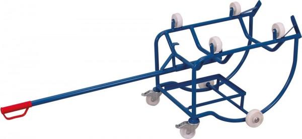 Fasskipper für 200 l Fässer mit 4 Kunststoffrollen