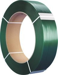 Kunststoffband-Umreifungs-Set, PET Kunststoffband grün geprägt