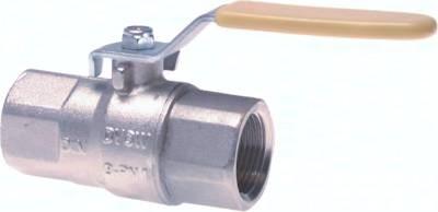 Kugelhähne 2-teilig, aus Messing, für den Einsatz in Sauerstoffanlagen, PN 30