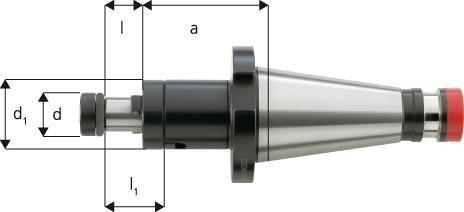 Kombi-Aufsteckfräsdorn DIN 2080