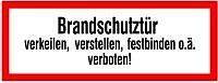 """Beschilderung, """"Brandschutztür"""""""