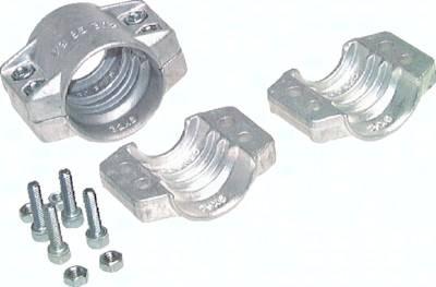 Gewindetüllen mit Außengewinde und Sicherungsbund, Abmessungen nach EN 14420-5 (DIN 2817)