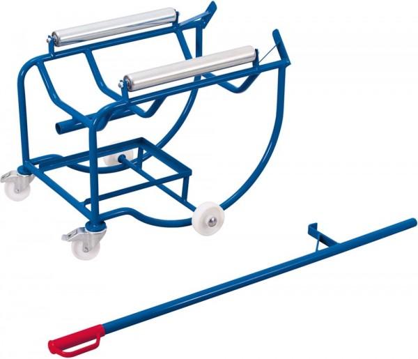 Fasskipper für 200 l Fässer mit 2 Stahlrollen