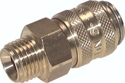 Kupplungsdosen 9 mm Zapfen, Außengewinde gerade, PN 15